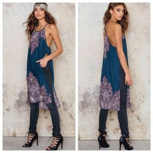 Free People Starry Sky Printed Tunic Boho Gypsy XS